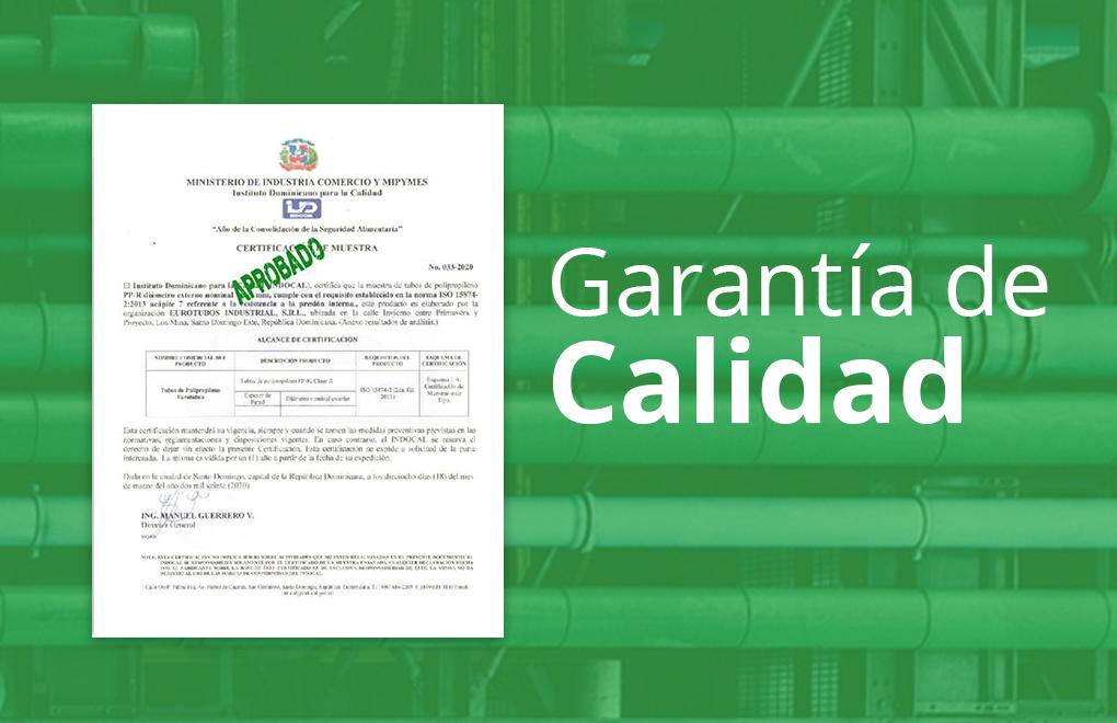 Certificación cumplimiento norma ISO 15874-2-2013